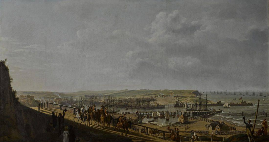 Napoléon visitant le camp de Boulogne
