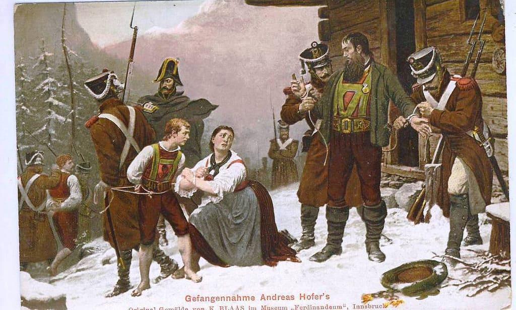 Arrestation d'Andreas Hofer