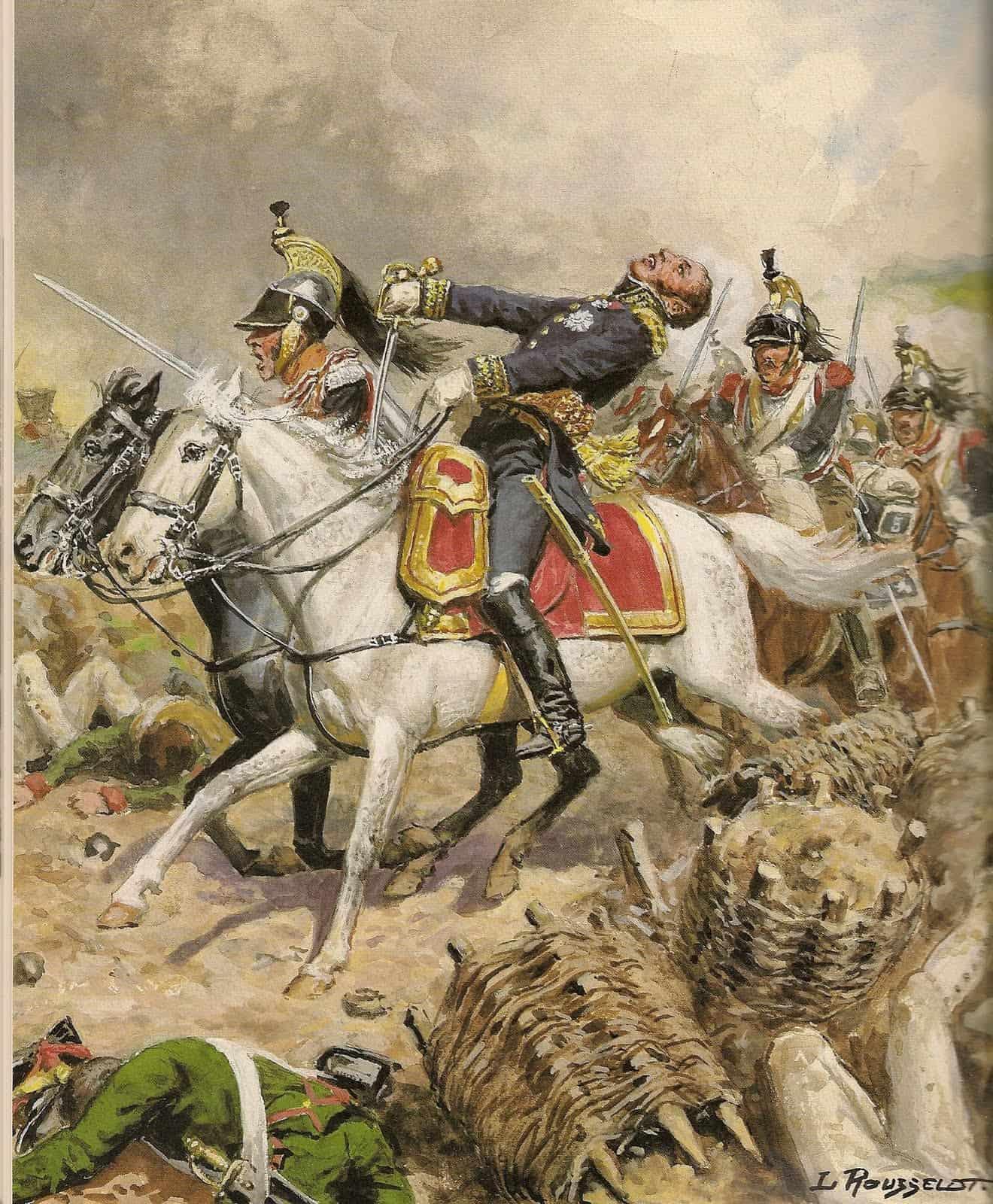 Le général Louis-Pierre Montbrun tué par un boulet