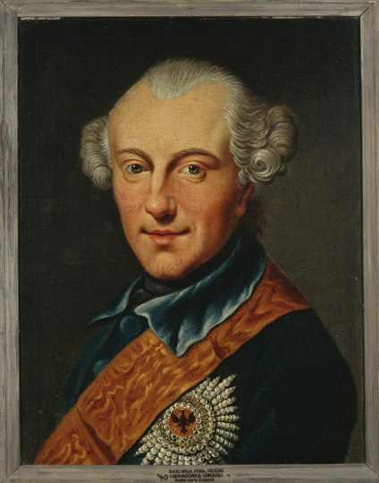 Charles William Ferdinand (German: Karl Wilhelm Ferdinand, Fürst und Herzog von Braunschweig-Wolfenbüttel) (1735 – 1806), Duke of Brunswick-Wolfenbüttel,
