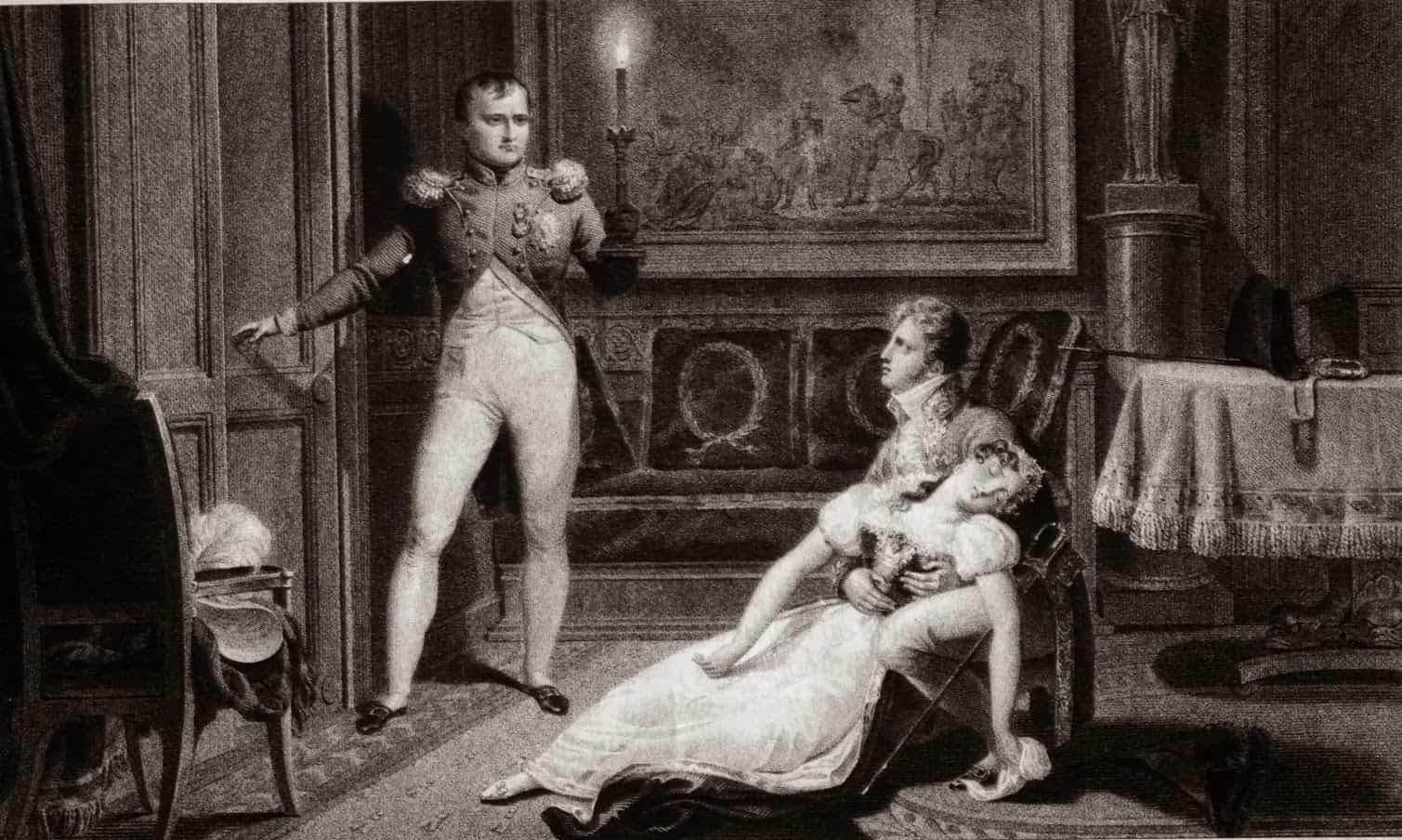 Napoléon informant Joséphine qu'il a décider de divorcer