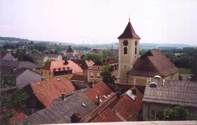 Vue d'Ebelsberg depuis le chemin menant au château