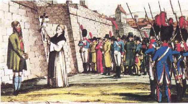 Exécution d'Andreas Hofer, à Mantoue