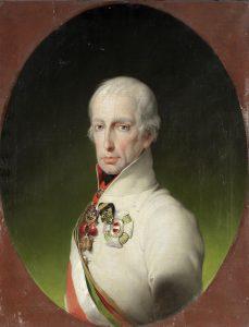 Portrait de Francois Ier d'Autriche. Attribué à Carl von Sales.