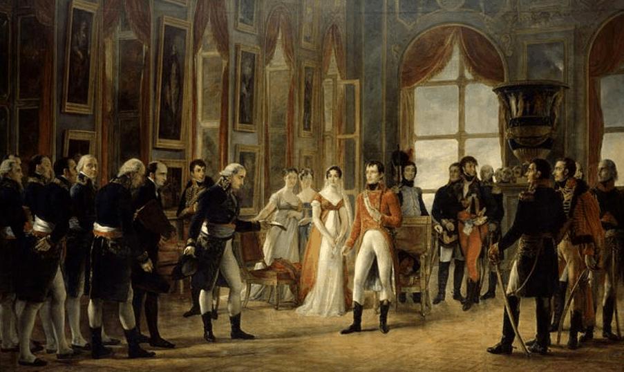 Napoléon Ier reçoit à Saint-Cloud le Senatus-Consulte qui le proclame empereur des Français. Georges Rouget. RMN