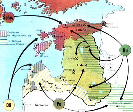 Carte de la Courlande