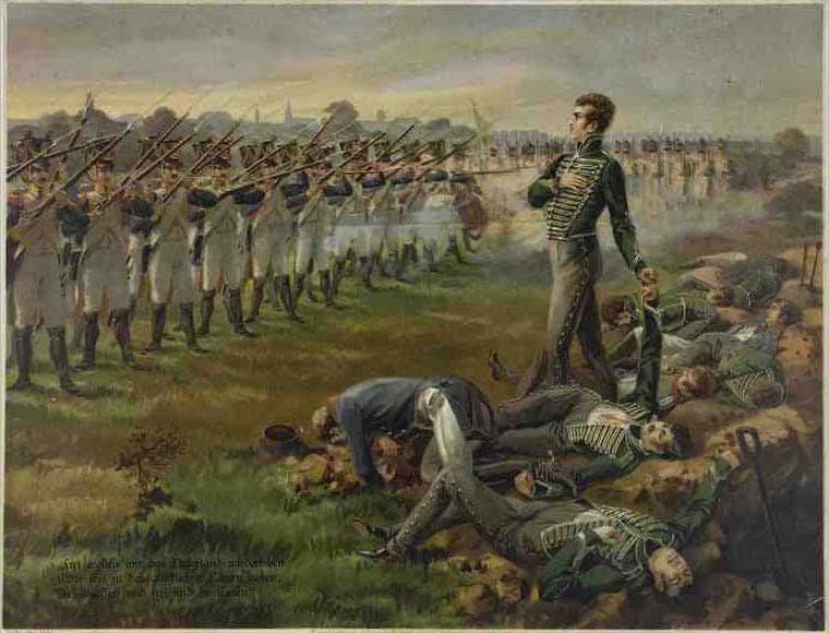 L'exécution des onze officiers de Johann von Schill,par un peleton français