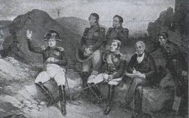 """Napoléon à Sainte-Hélène,avec les """"Évangélistes"""""""