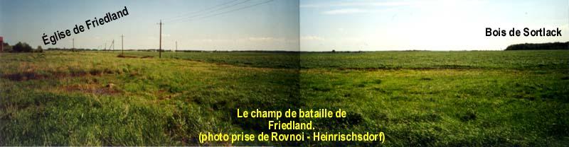 Panorama du champ de bataille de Friedland