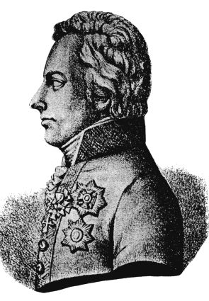 Maximilien Merveldt. Porttrait (1828-1829) de Franz Sir (NB)