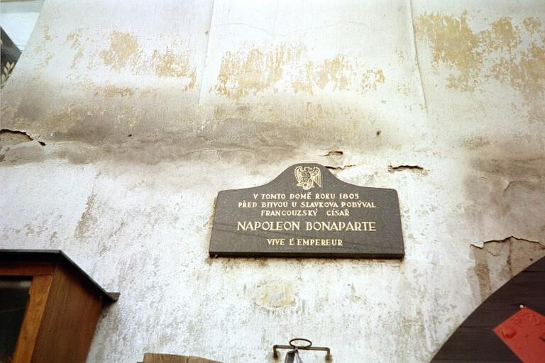 Plaque commémorative du séjour de Napoléon à Znaim
