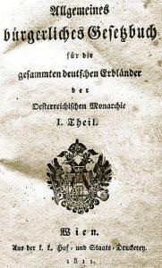 Allgemeines Gesetzes bürgerlische Gesetzbuch - Édition de 1811
