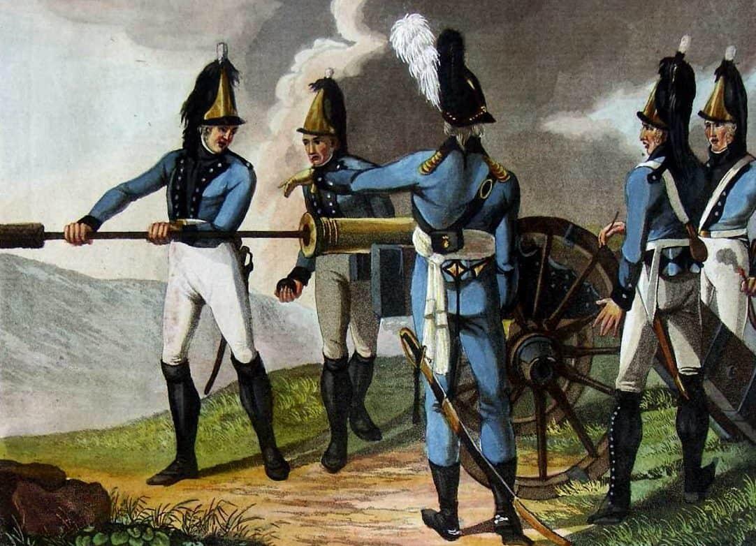 Artillerie wurtembergeoise - Augsburger Uniform. Napoleon on-line