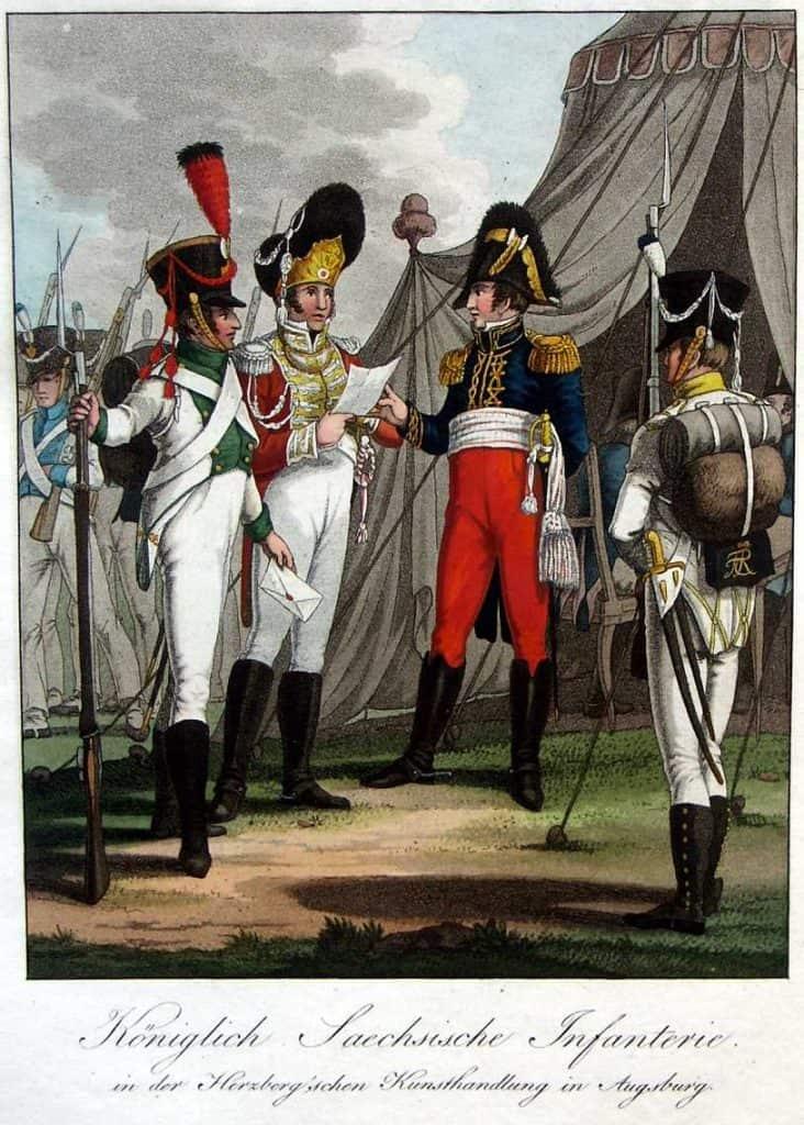 Infanterie saxonne. Ausburger Uniform. Markus Stein