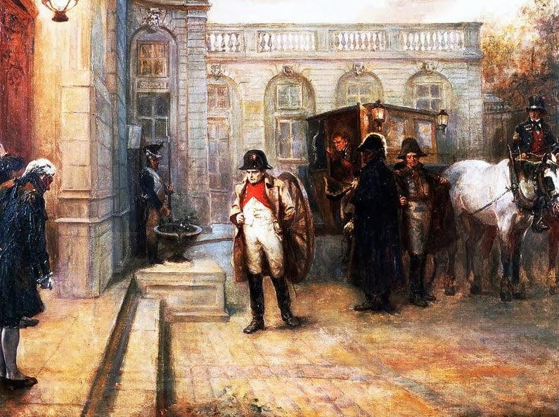 Arrivée de Napoléon à l'Elysée