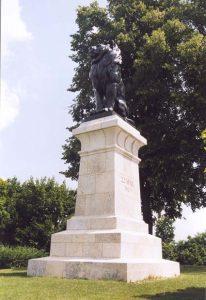 Le Lion dEckmüh, érigé à lemplacement où le général Cervoni fut tué. Ferdinand von Miller. 1909 - Photo D. Timmermans