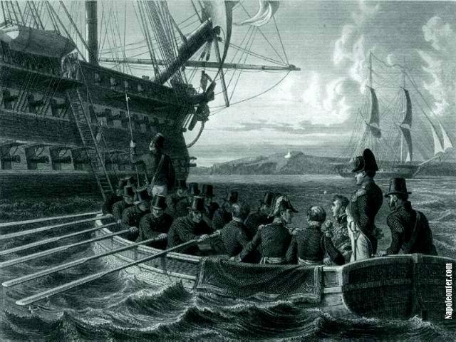 Embarquement sur le Bellerophon