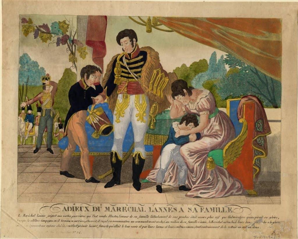 Le maréchal Lannes faisant ses adieux à sa famille. C. Condoni. Anne S.K. Brown Military Collection