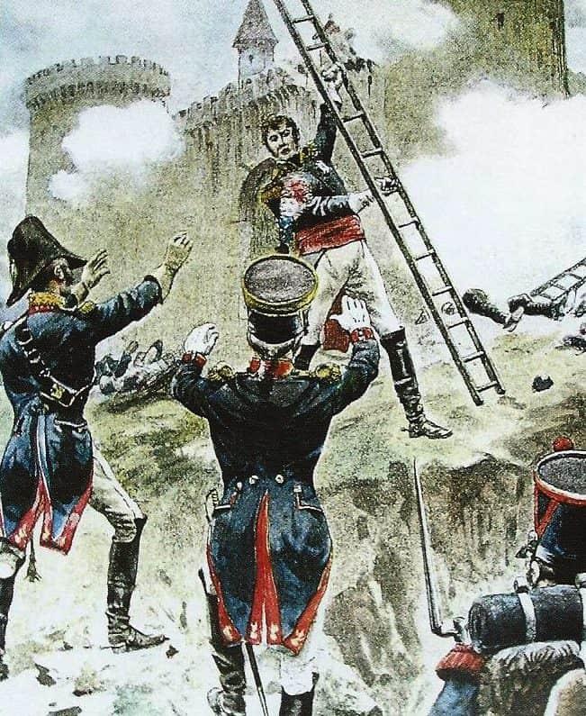 Le maréchal Lannes à l'assaut de Ratisbonne. Alfred Paris.