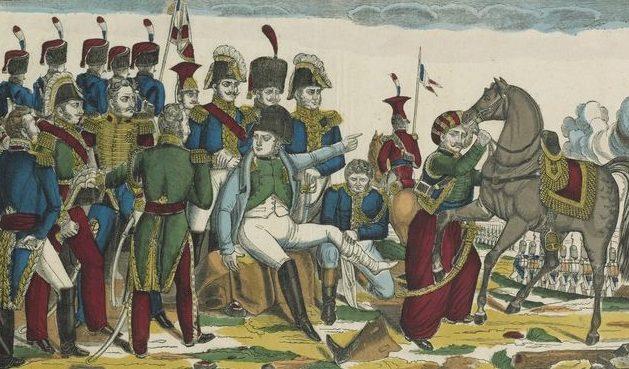 Napoléon blessé à Ratisbonne. D'après Gautherot
