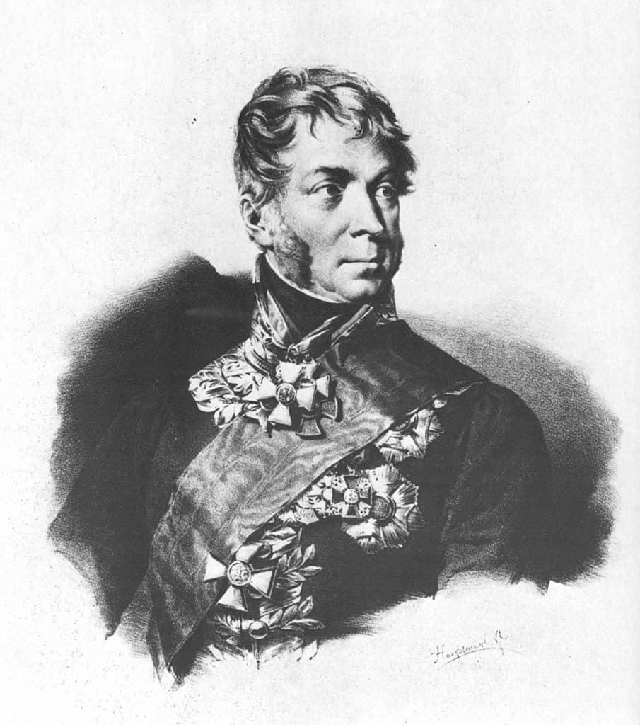 Karl Philipp Fürst von Wrede (1767-1838), Hanstaengl, Lithographie 1828