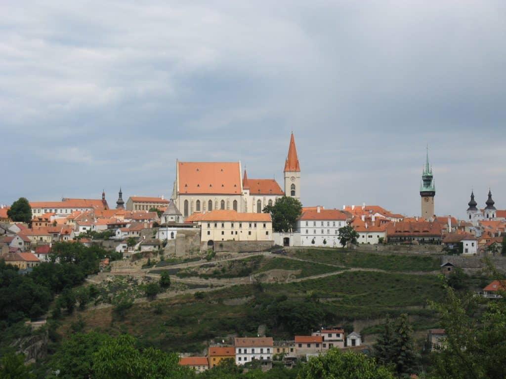 La ville de Znaim (Znojmo aujourd'hui)