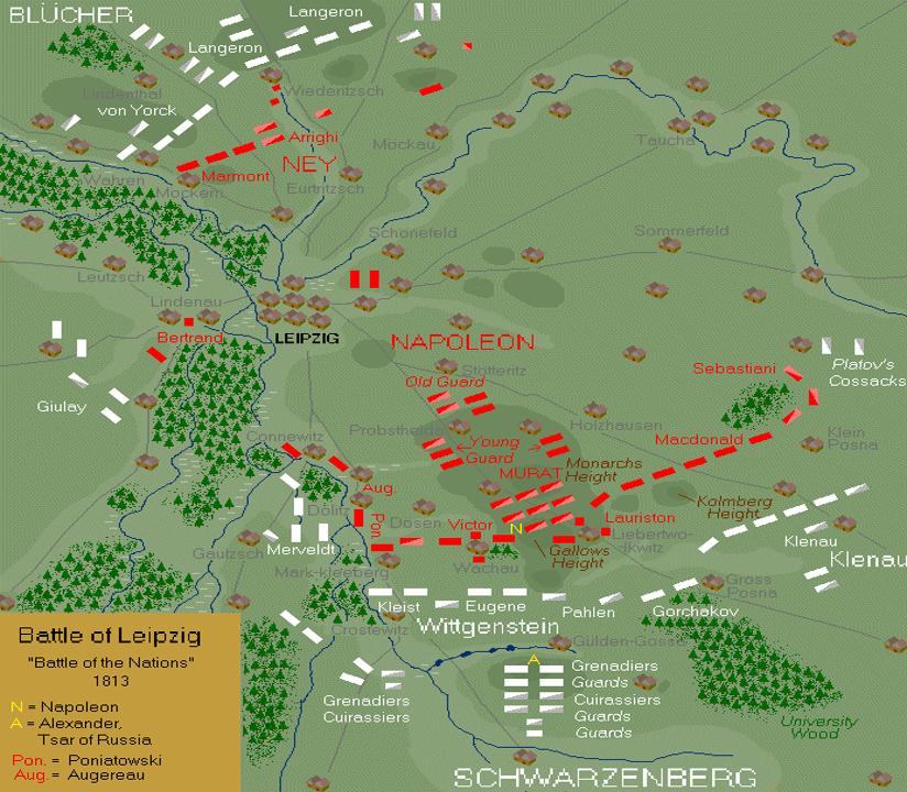 Emplacement des troupes