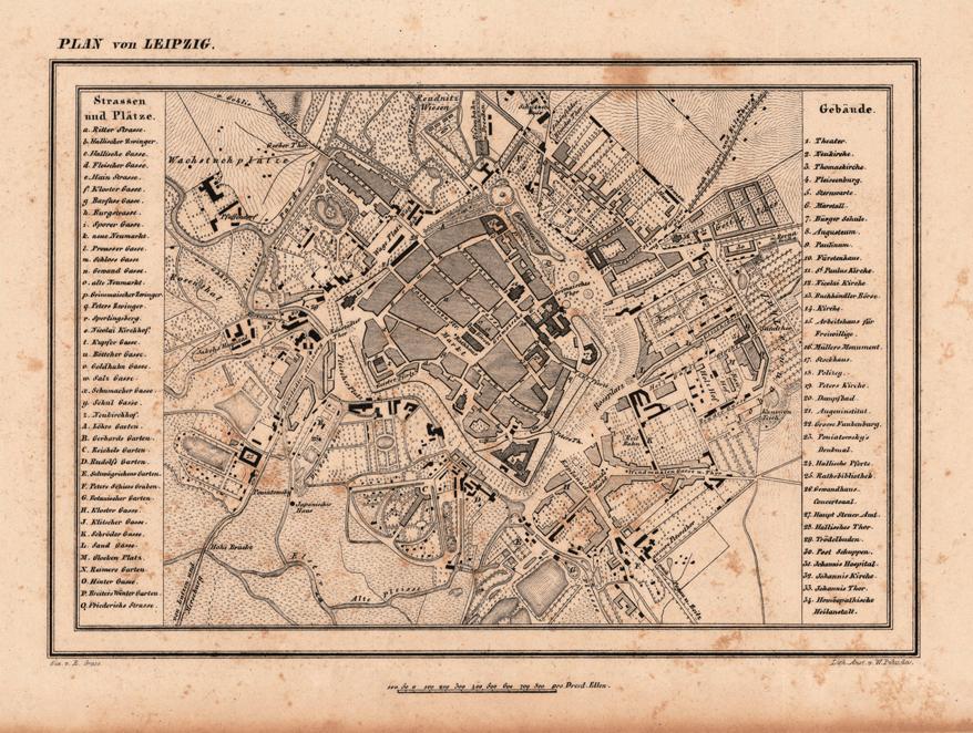 Plan de la ville de Leipzig