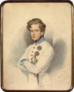 Le duc de Reichstadt officier de Sa Majesté. Portrait par Daffinger