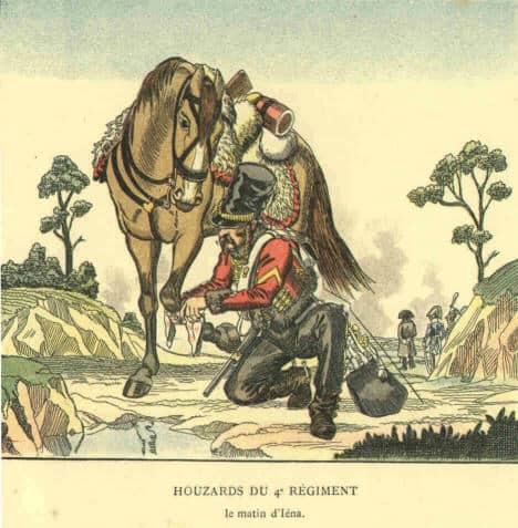 4e Husssards, en 1806.