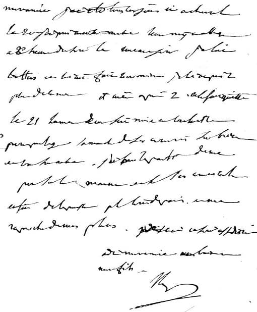 Lettre de Napoléon à Marie-Louise