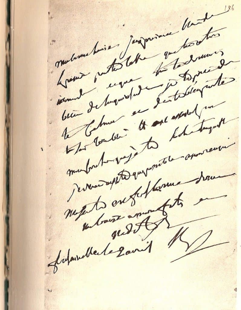 Lettre de Napoléon du 2 avril 1814