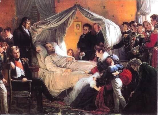 La mort de Napoléon le 5 mai 1821