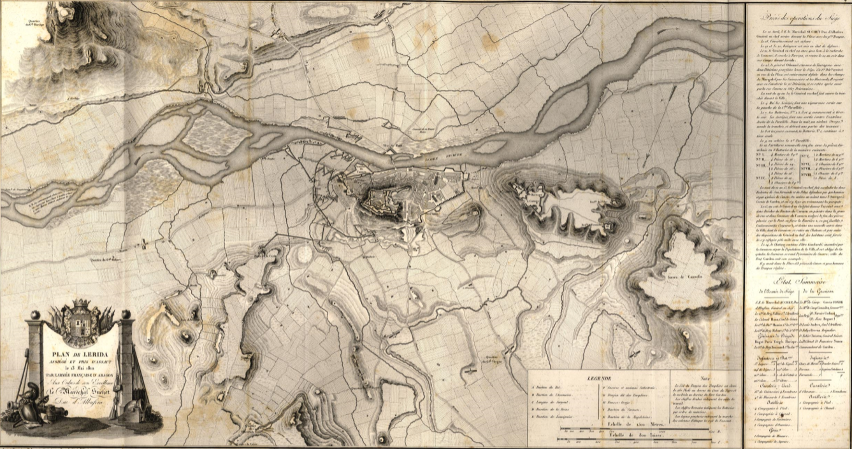 Plan des environs de Lerida