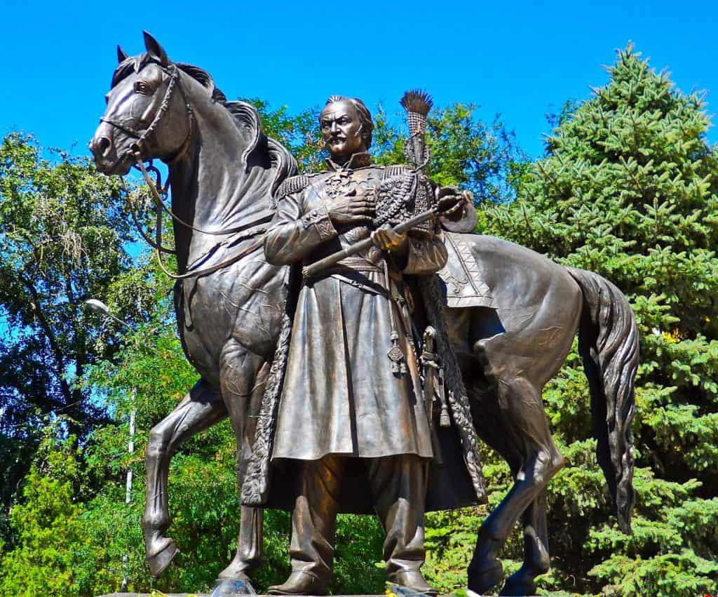 Statue de Platov à Novotcherkassk (Russie)