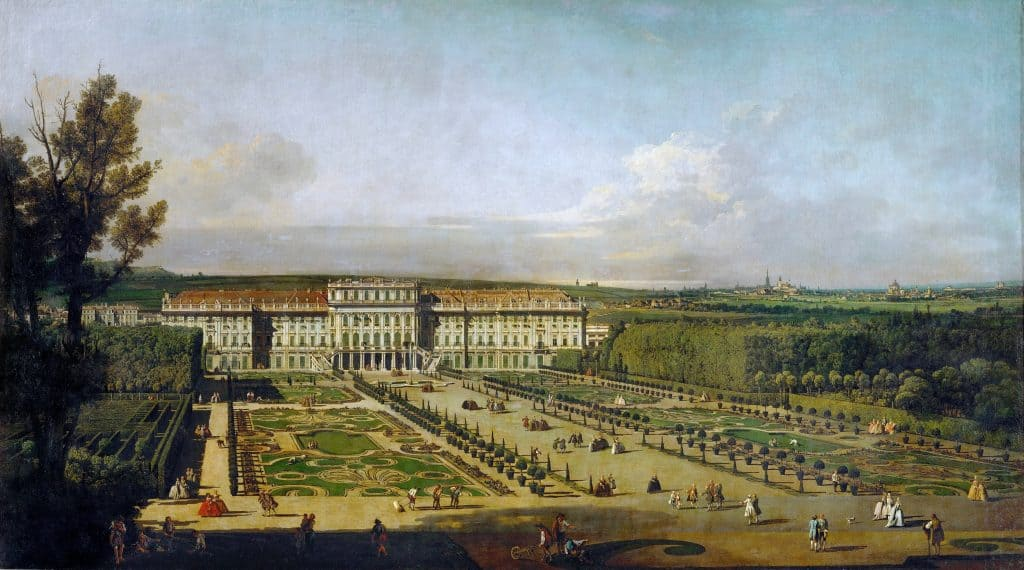 Le palais de Schönbrunn - Canaletto