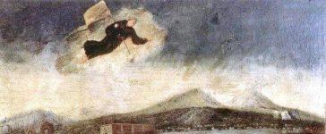 Cardinal Fabrizio Ruffo à la tête des Sanfedisti, soizs la protection de Saint-Antoine