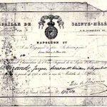 Le diplôme de la Médaille de Sainte-Hélène