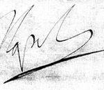 Signature du 10 juin 1809, de Gottweig (lettre à Vandamme)