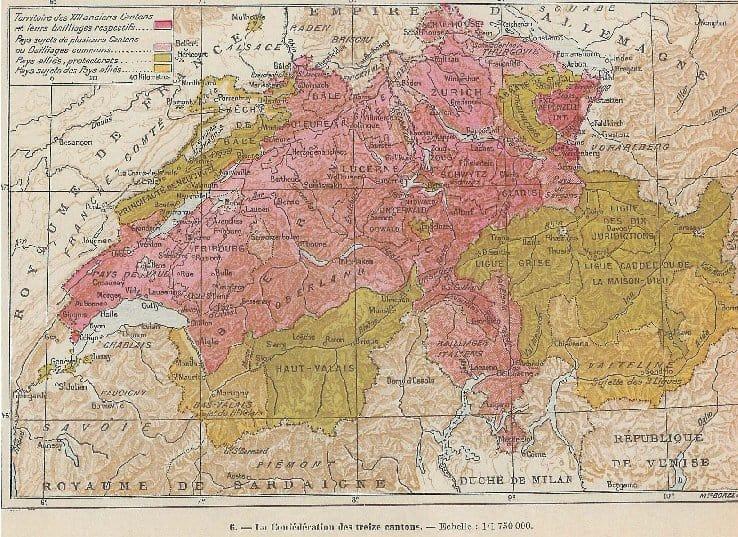La confédération des treize cantons