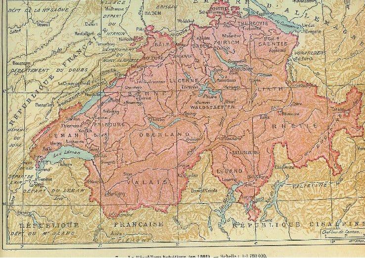 La République Helvétique en 1801