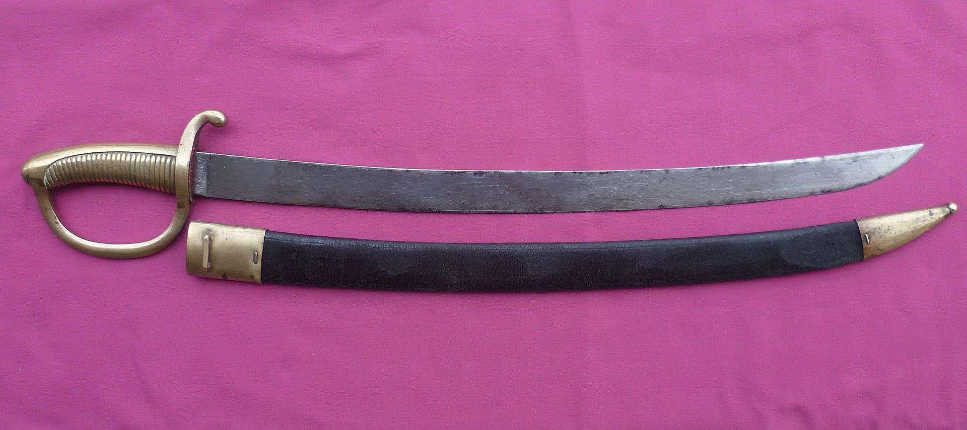 Le sabre-briquet de l'infanterie francaise