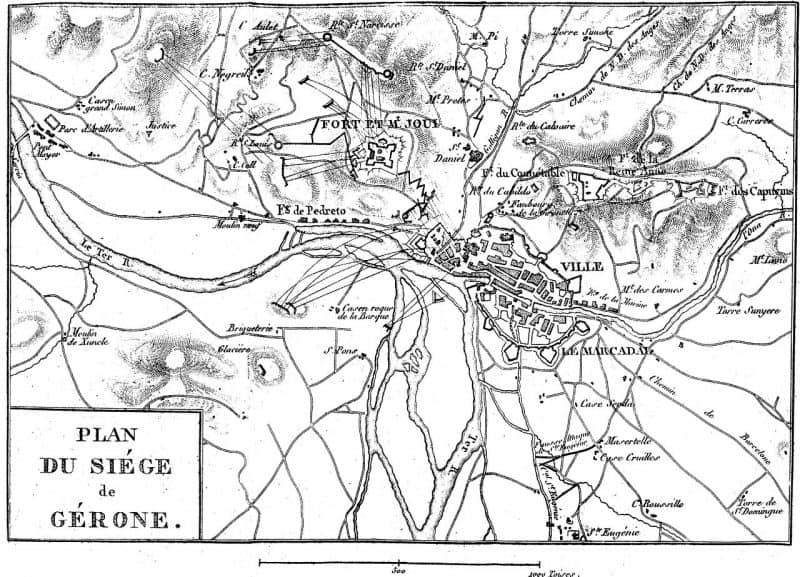 Plan du siège de Gérone