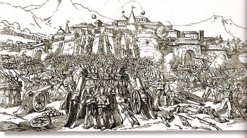 Le siège de Gérone. Illustration anonyme contemporaine