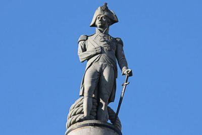 La statue de Nelson à Trafalgar Square