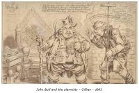 John Bull and the Alarmists - Gillray - 1803