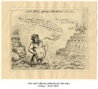 John Bull offering Little Boney Fair-Play - Gillray - Août 1803