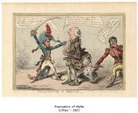 Evacuation of Malta - Gillray - 1803
