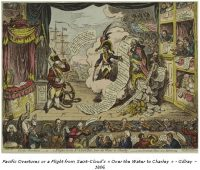 "Pacific Overtures - or a Flight from Saint-Cloud's ""Over the water to Charley"" - Gillray - 1806"