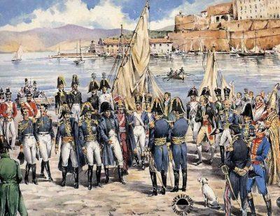 Débarquement de Napoléon à Porto-Ferrajo